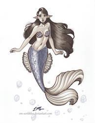 Grey Marker Mermaid by em-scribbles
