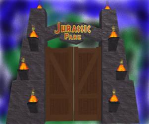 Jurassic Park gate by Jessievieira90