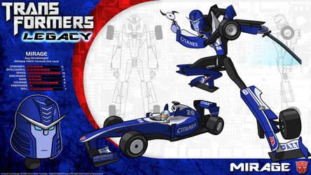 Transformers Legacy: Mirage by CyRaptor