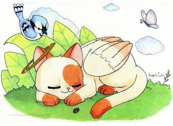 Sleepy kitty by sweet-kitteh
