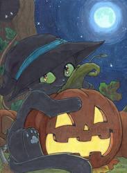 Halloween Cat by sweet-kitteh