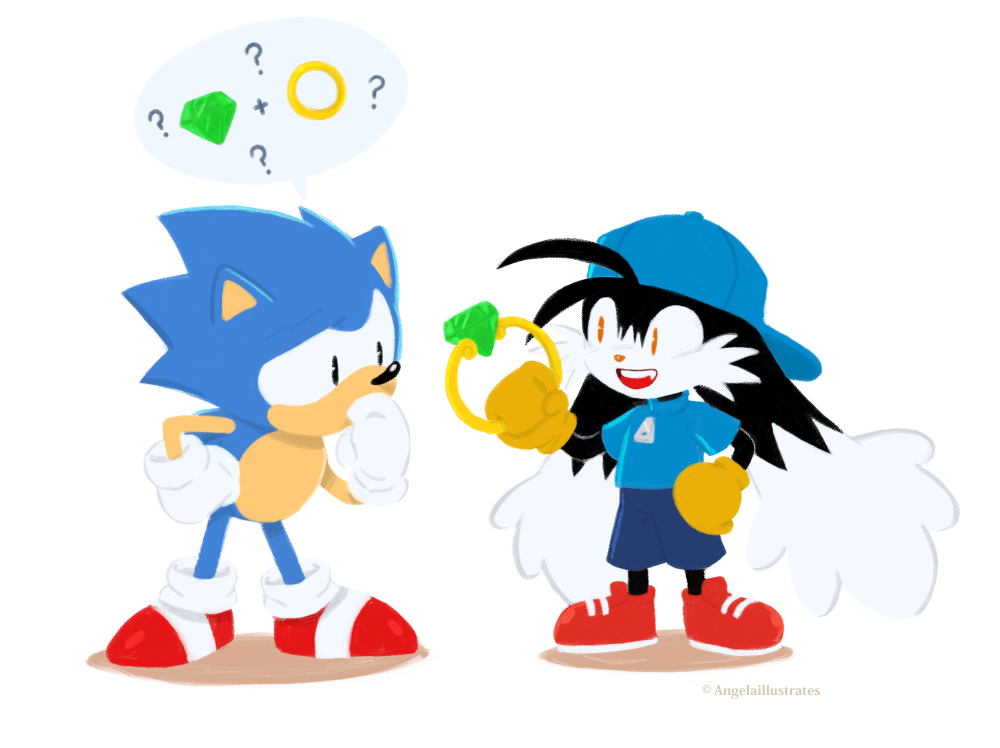Sonic and Klonoa by sweet-kitteh