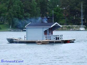 Floating Sauna by EvilBohnenkraut