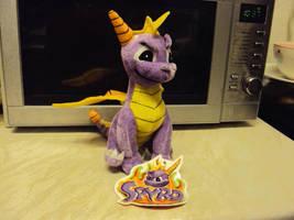 Spyro The Dragon Plush by DazzyADeviant
