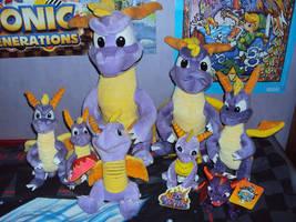 My Spyro The Dragon Plushie Collection by DazzyADeviant