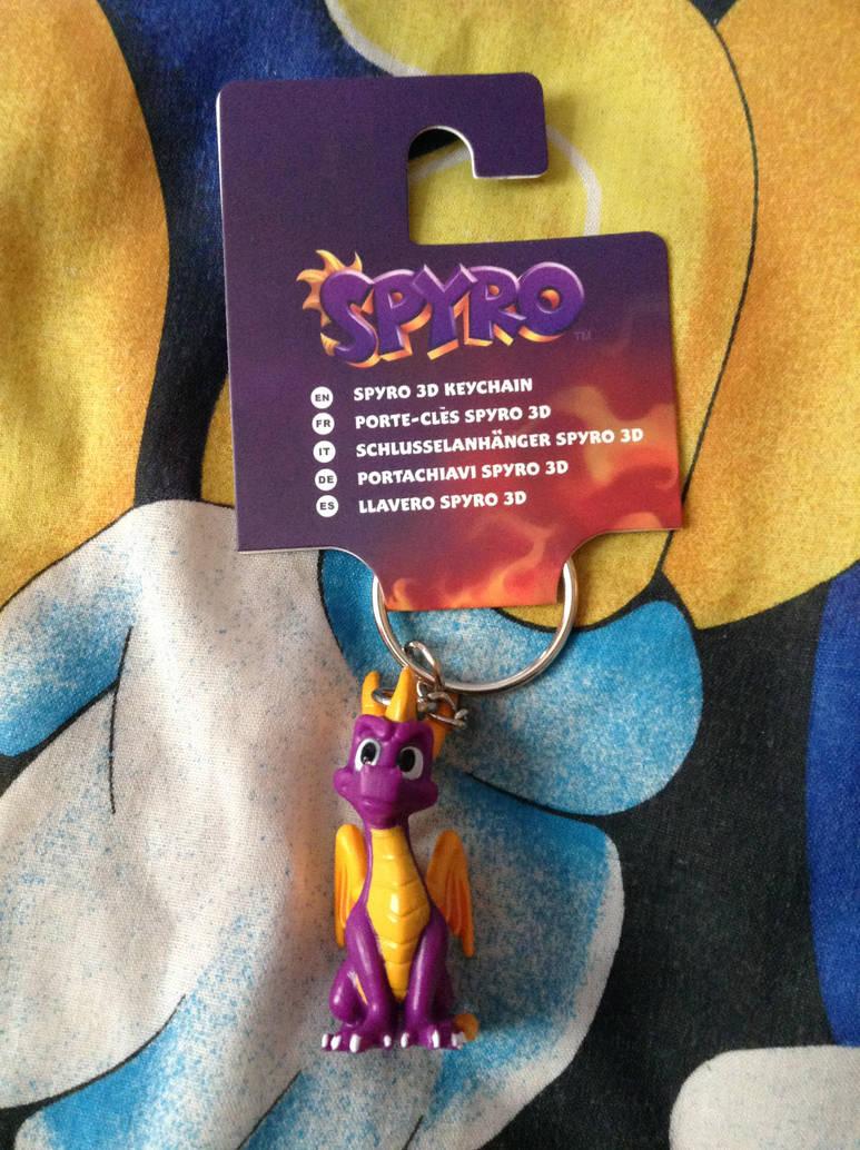Spyro The Dragon Keyring Figure by DazzyADeviant