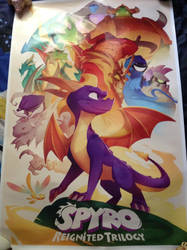 Spyro Reignited Trilogy Poster by DazzyADeviant