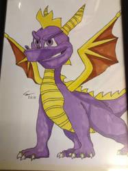 Spyro The Dragon Picture, Drawn By Conor Calvert by DazzyADeviant