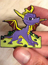 Spyro The Dragon Pin Badge by DazzyADeviant