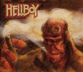Hellboy by damianodan