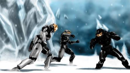 Red vs Blue - Ice Fight by Bashelik