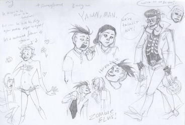 EEnE- Zombie Elvis sketchdump by Myss-nomer