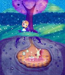 Alice in the moonlight by mairimart