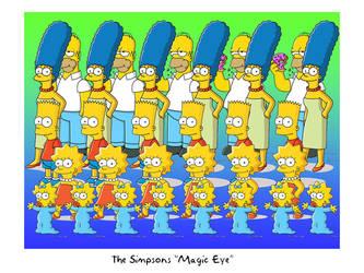 Simpsons Magic Eye by Superbdude1