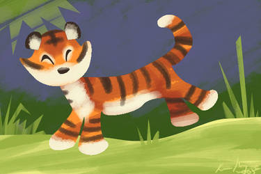 T is for Tiger by kayjkay
