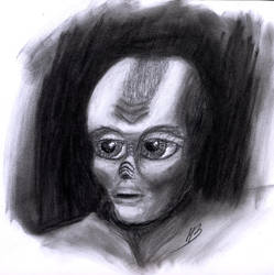 Alien portrait by HuBBaTheMan