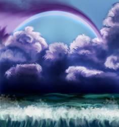 practice sky by Isidora