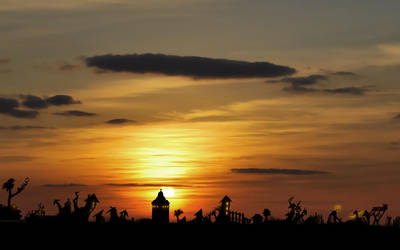 Sunset Countryside by Isidora