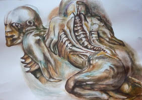 Artist Reference H.R. Giger by jamysketches