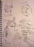 7 deadly sins - Hands by jamysketches