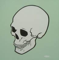 Green Skull by mondojohn