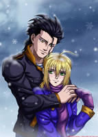 Fate Zero-Lancer and Saber by syren007