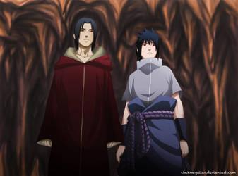Naruto Manga 580 Itachi and Sasuke by ChekoAguilar