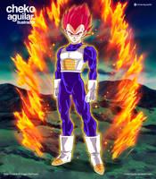 Vegeta Super Saiyan God (SSG) by ChekoAguilar