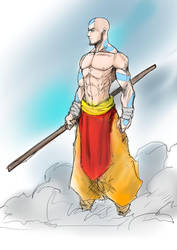 Adult Avatar Aang aka All Awesome Airbender by Sketchydeez