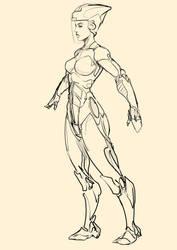 futuristic racer girl by Sketchydeez
