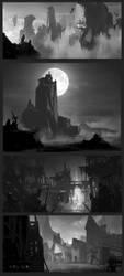envoroment sketches2 by PavelTomashevskiy