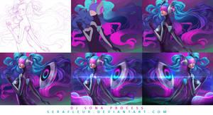 DJ Sona Ethereal [Process] by serafleur