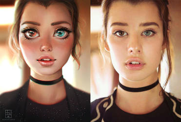 Cartoon and Reality - Sarah McDaniel by serafleur