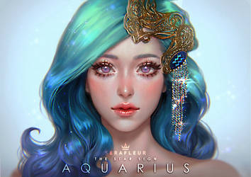 The Star Sign - Aquarius by serafleur