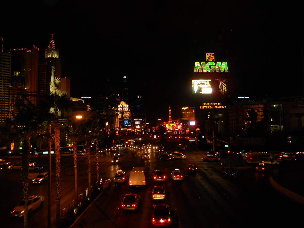 The Vegas Strip At Night by KailaDarling