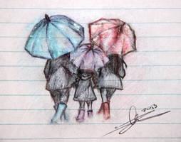 The Purple Umbrella by SUP3Rbun