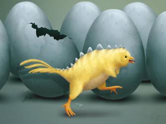 Dinochick by Milandeentjestoe