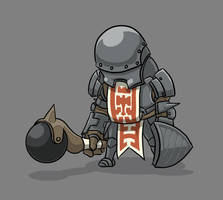 Knight Enemy concept by P-Flute