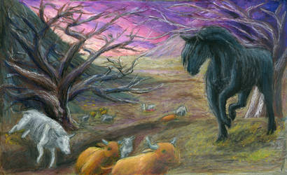 Black Famine Horse by Xovq