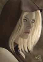 Silver-Eyed Irena - portrait (remake) by GothaWolf