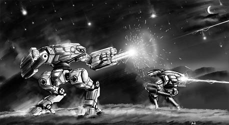 Battletech - Starry Night by AJtrooper