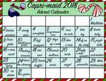 Capri-maid 2018 Christmas Advent Calendar - Open by spotedpelts