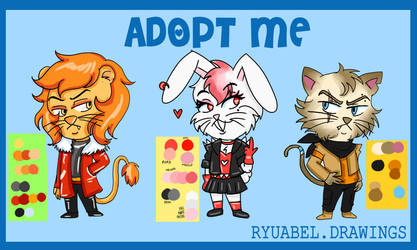 ADOPTABLES FURRY OC PAYPAL ONLY by Ryu-Abel