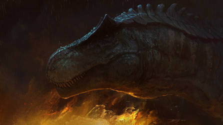 Fire, rain and the monster by Tapwing