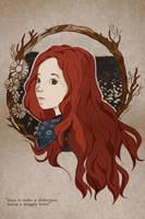 Lily Evans : White Daisy by TheHoneyAndMilk