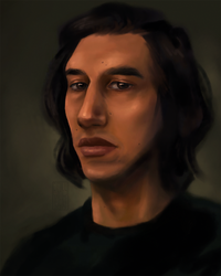 Adam Driver Painting Study No. 3 by Chrisily