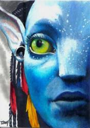 Avatar Neytiri Sketch Card by Dr-Horrible