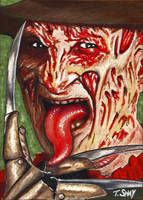 Freddy Krueger Sketch Card by Dr-Horrible