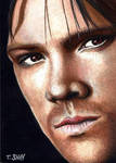 Sam Winchester sketch card by Dr-Horrible