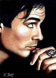Damon-Vampire Diaries by Dr-Horrible